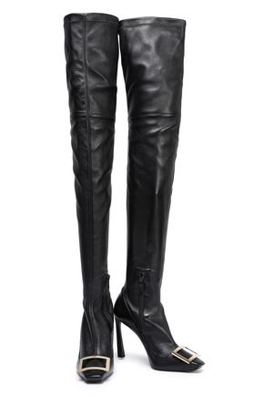 d468b6eefaf ROGER VIVIER Cuissard embellished leather thigh boots