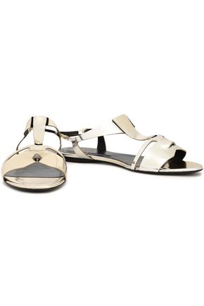 ROGER VIVIER Metallic leather sandals