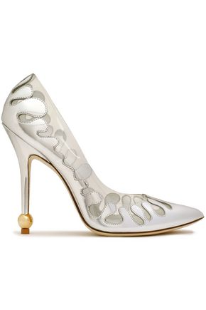ROGER VIVIER PVC and metallic leather pumps