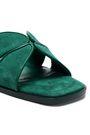 SANDRO Elly leather-trimmed suede slides