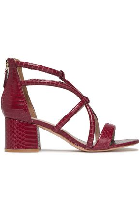 SANDRO Avril watersnake sandals