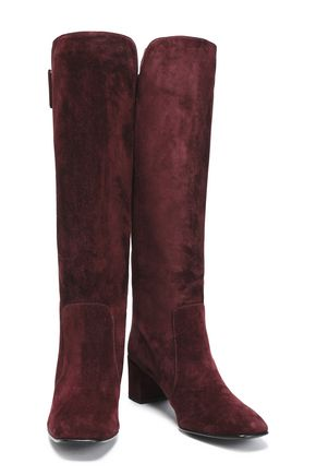 ROGER VIVIER Polly buckled suede knee boots