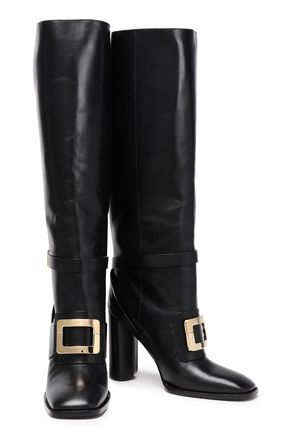 ROGER VIVIER Buckled leather boots
