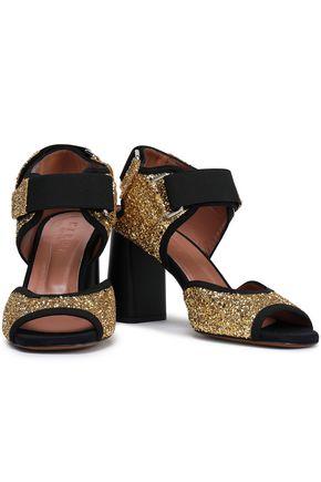 d6e2540a2948 MARNI Glittered canvas slingback sandals