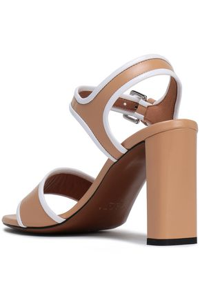 MARNI Patent-trimmed leather sandals