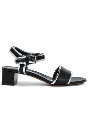 MARNI Metallic-trimmed leather sandals