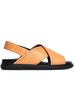MARNI Fussbett leather slingback sandals