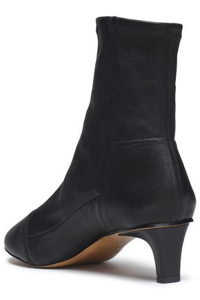 ISABEL MARANT Stretch-leather sock boots