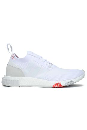 ADIDAS ORIGINALS NMD Racer PK leather-trimmed stretch-knit sneakers