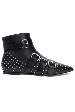 RED(V) Studded leather ankle boots