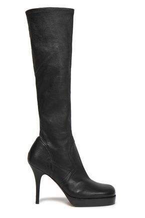 RICK OWENS Leather platform boots