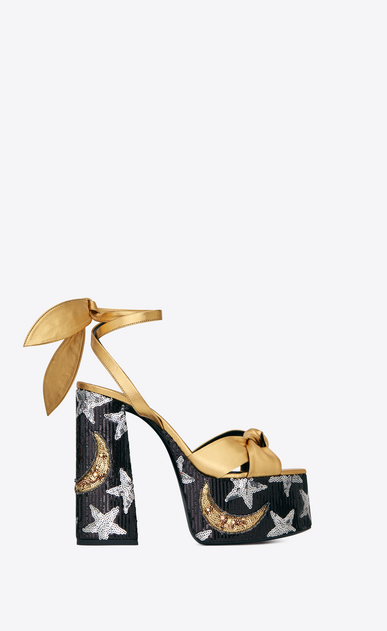 PAIGE sandals in leather with sequin embroidery