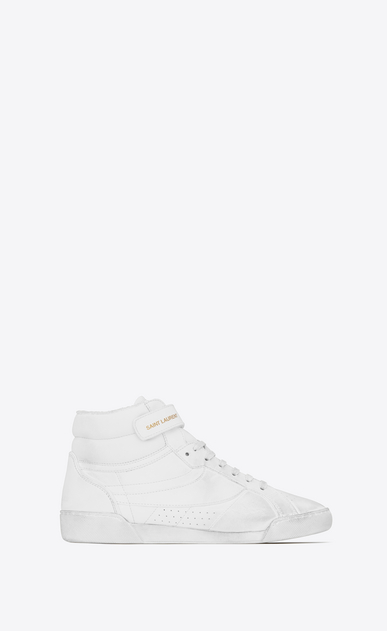 LENNY sneakers in leather and canvas