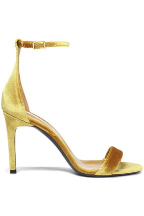 OSCAR DE LA RENTA Velvet sandals