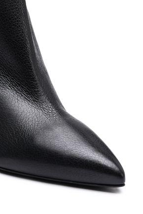 OSCAR DE LA RENTA Textured-leather ankle boots