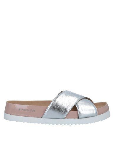 Купить Женские сандали  серебристого цвета