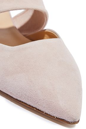 IRIS & INK Mia cutout suede slippers