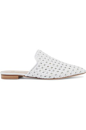 IRIS & INK Avery woven leather slippers