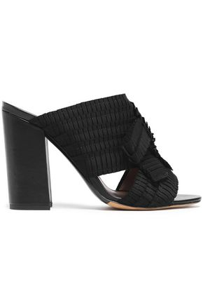 TABITHA SIMMONS Beau pleated grosgrain mules