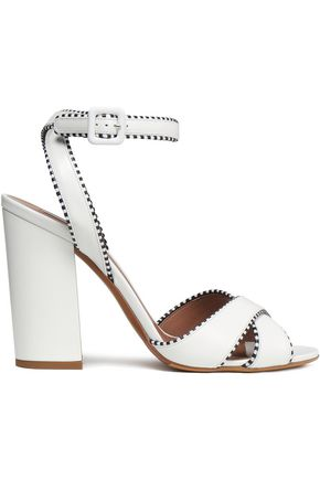 TABITHA SIMMONS | Tabitha Simmons Connie Leather Sandals | Goxip
