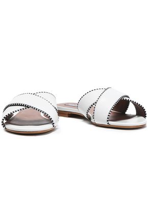 TABITHA SIMMONS Leather slides