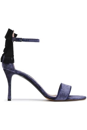TABITHA SIMMONS Bow-embellished velvet sandals