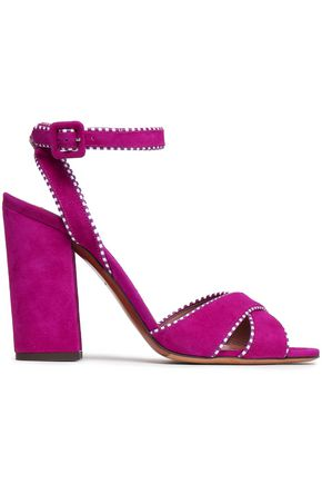TABITHA SIMMONS | Tabitha Simmons Connie Suede Sandals | Goxip
