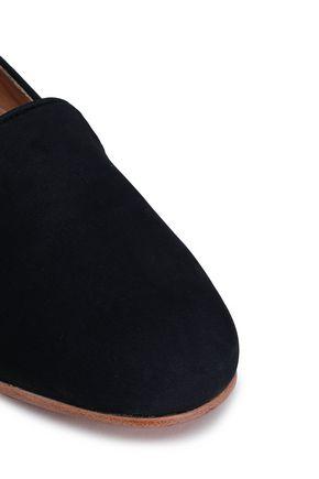 DIEPPA RESTREPO Dandy metallic patent-leather slippers