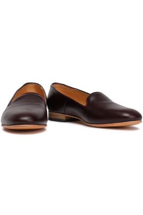 DIEPPA RESTREPO Dandy metallic patent-leather slippers
