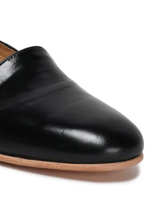 DIEPPA RESTREPO Glossed-leather slippers