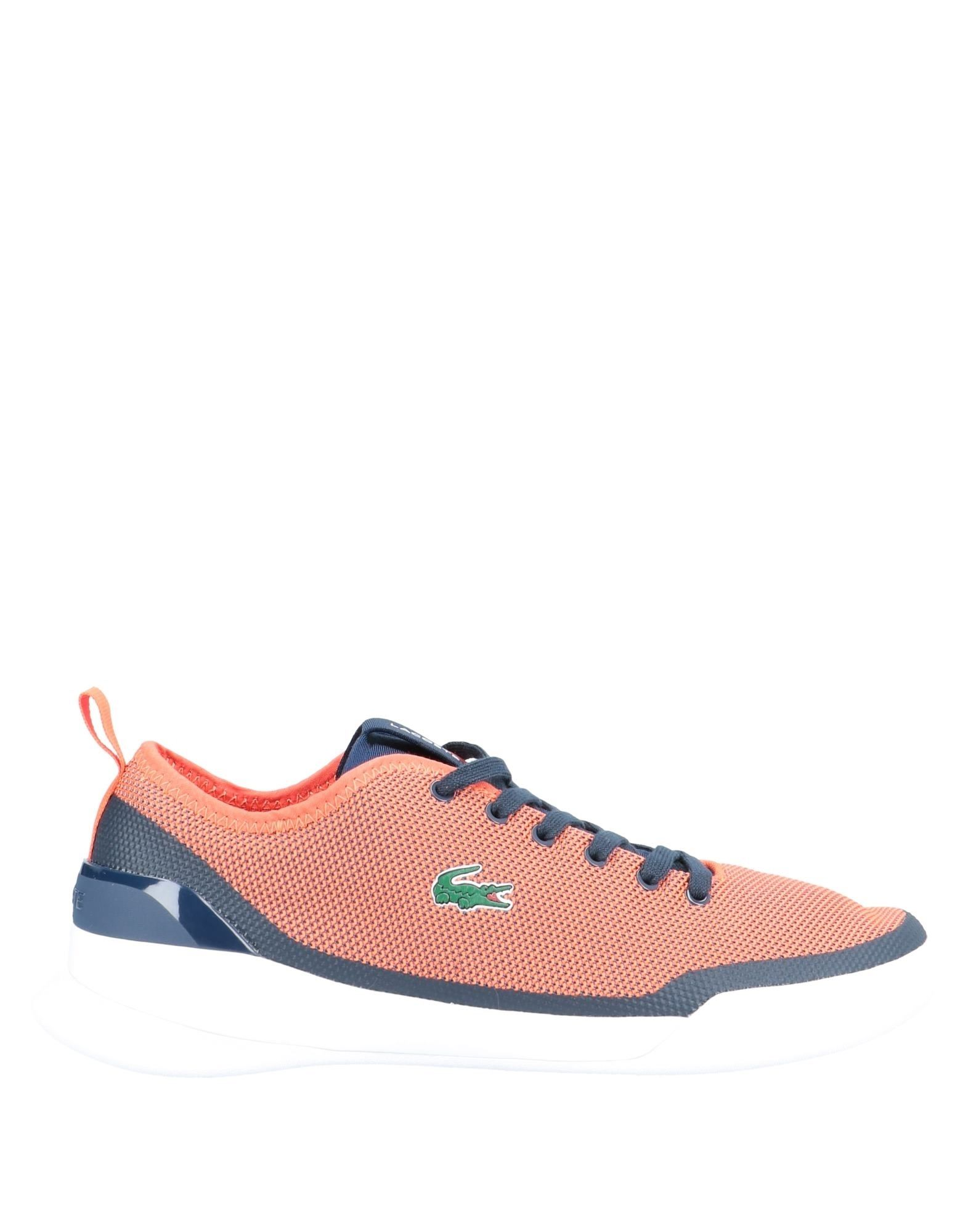 《セール開催中》LACOSTE メンズ スニーカー&テニスシューズ(ローカット) オレンジ 6 紡績繊維