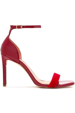 HALSTON HERITAGE Myra velvet and patent-leather sandals