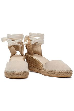 IRIS & INK Suede wedge espadrilles