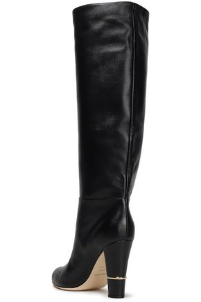 SERGIO ROSSI Leather knee boots
