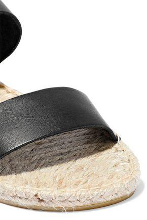 IRIS & INK Jonah leather espadrille slides
