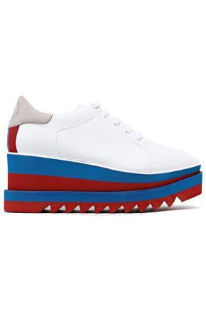 STELLA McCARTNEY Sneak Elyse 75 faux suede and leather platform sneakers
