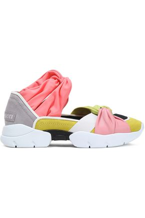 EMILIO PUCCI Neoprene, stretch-jersey and leather sneakers