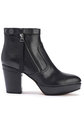 ACNE STUDIOS Track leather platform ankle boots