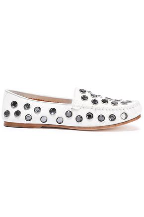 ACNE STUDIOS Jackson crystal-embellished leather loafers