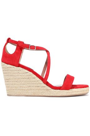TABITHA SIMMONS Liu suede espadrille wedge sandals