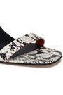 DIANE VON FURSTENBERG Frankie embellished snake-effect leather sandals