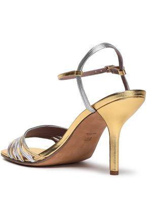 DIANE VON FURSTENBERG Federica two-tone metallic leather sandals