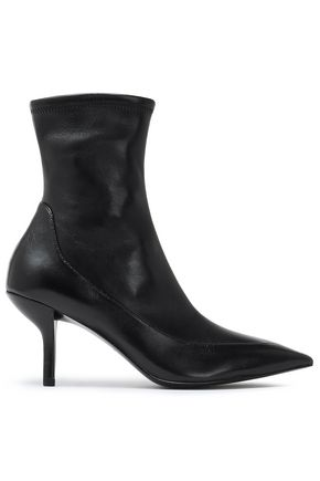 DIANE VON FURSTENBERG Morgan leather sock boots