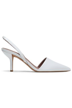 DIANE VON FURSTENBERG Mortelle leather slingback pumps