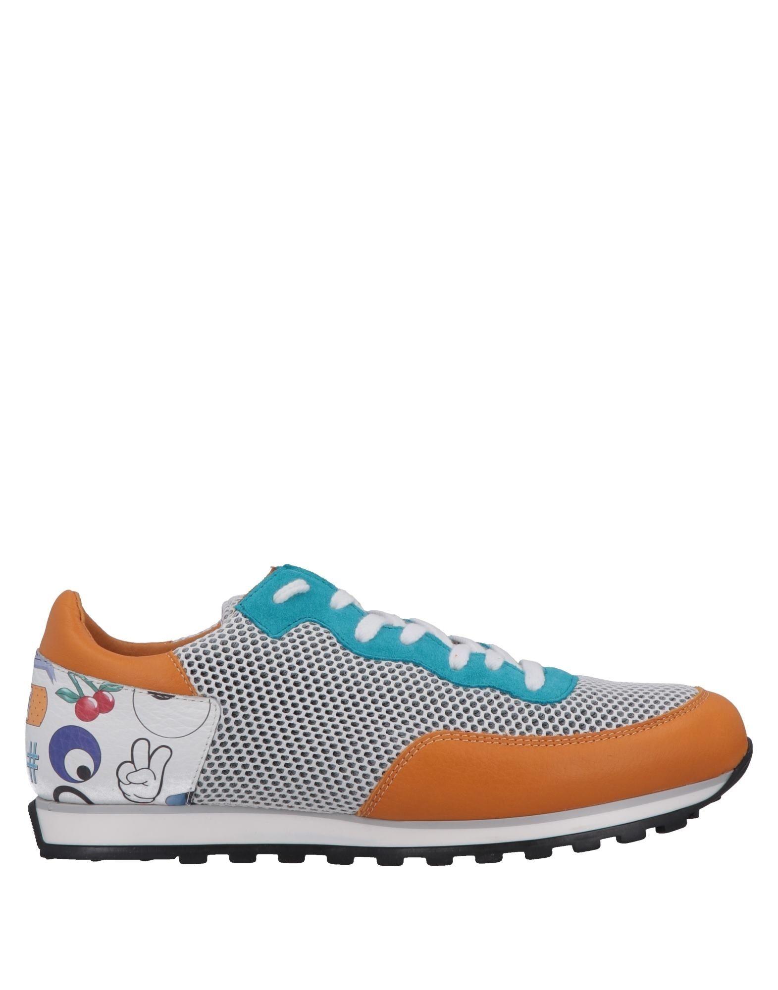 《送料無料》QUATTROBARRADODICI メンズ スニーカー&テニスシューズ(ローカット) ホワイト 39 革 / 紡績繊維