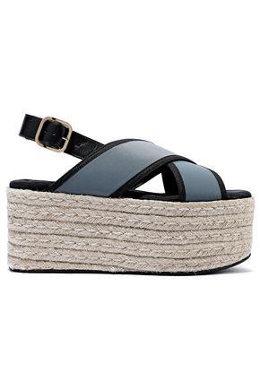 ea5042e83a56 MARNI Leather-trimmed scuba platform sandals