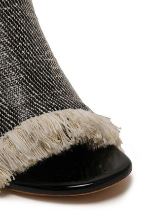 PROENZA SCHOULER Fringed coated canvas mules