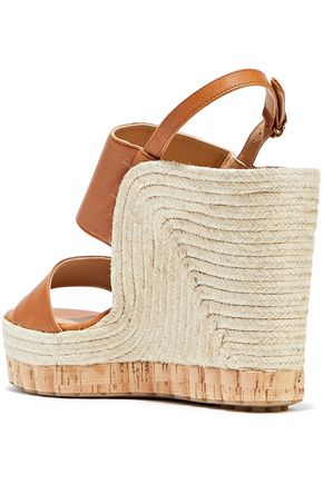 da5fb9e79d6 ... SALVATORE FERRAGAMO Maratea leather wedge slingback sandals