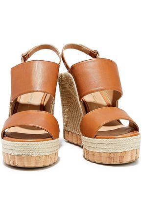 SALVATORE FERRAGAMO Maratea leather wedge slingback sandals
