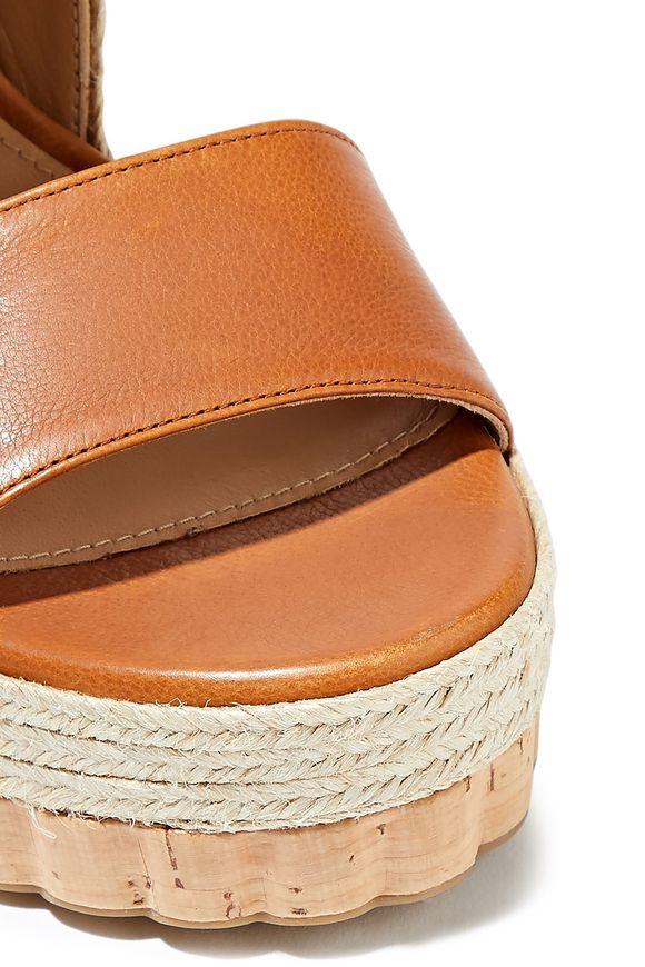 db272fcf589 Maratea leather wedge slingback sandals